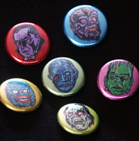 Metallic Monster Buttons